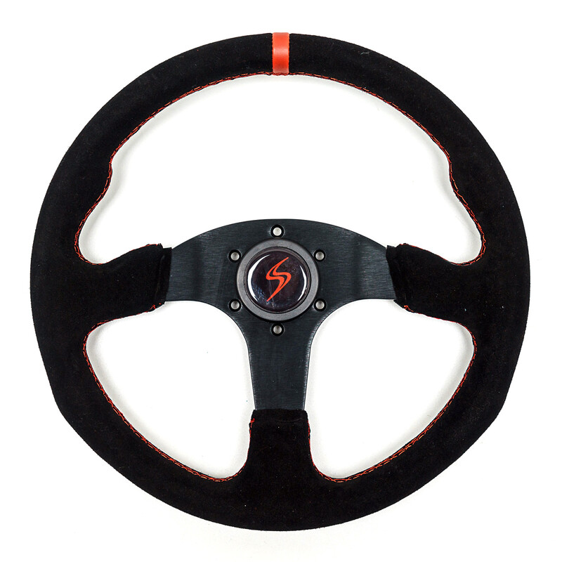 DS Steering Wheel - Flat Dish - Suede