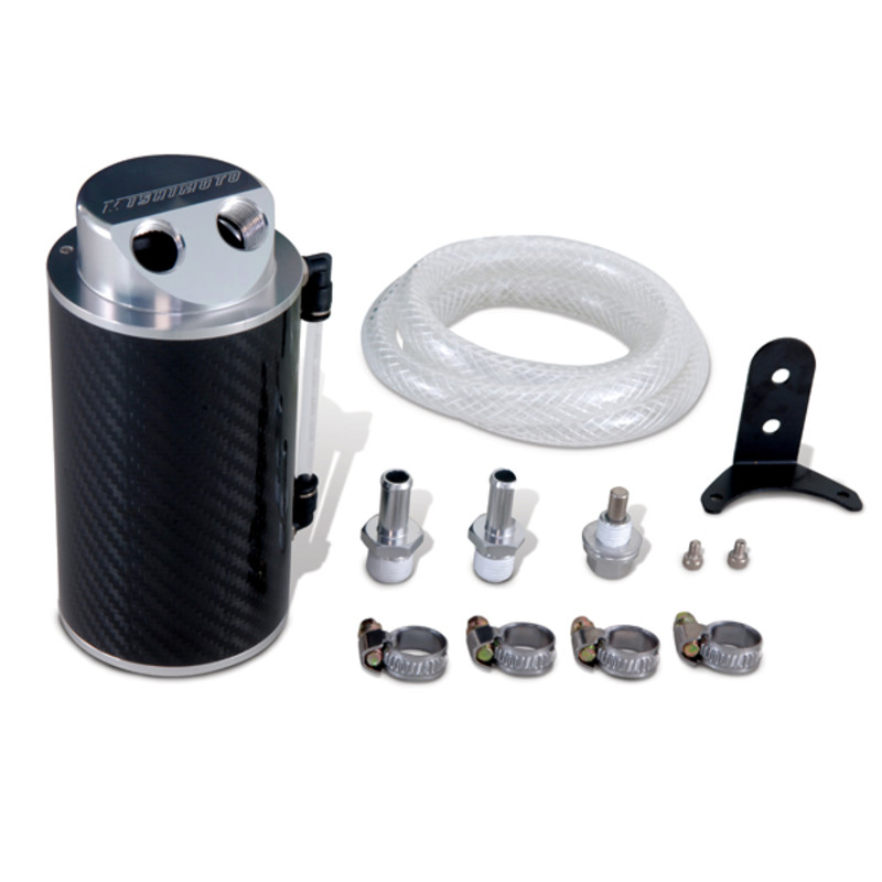 Mishimoto - Oil Catch Can Kit - Universal Carbon