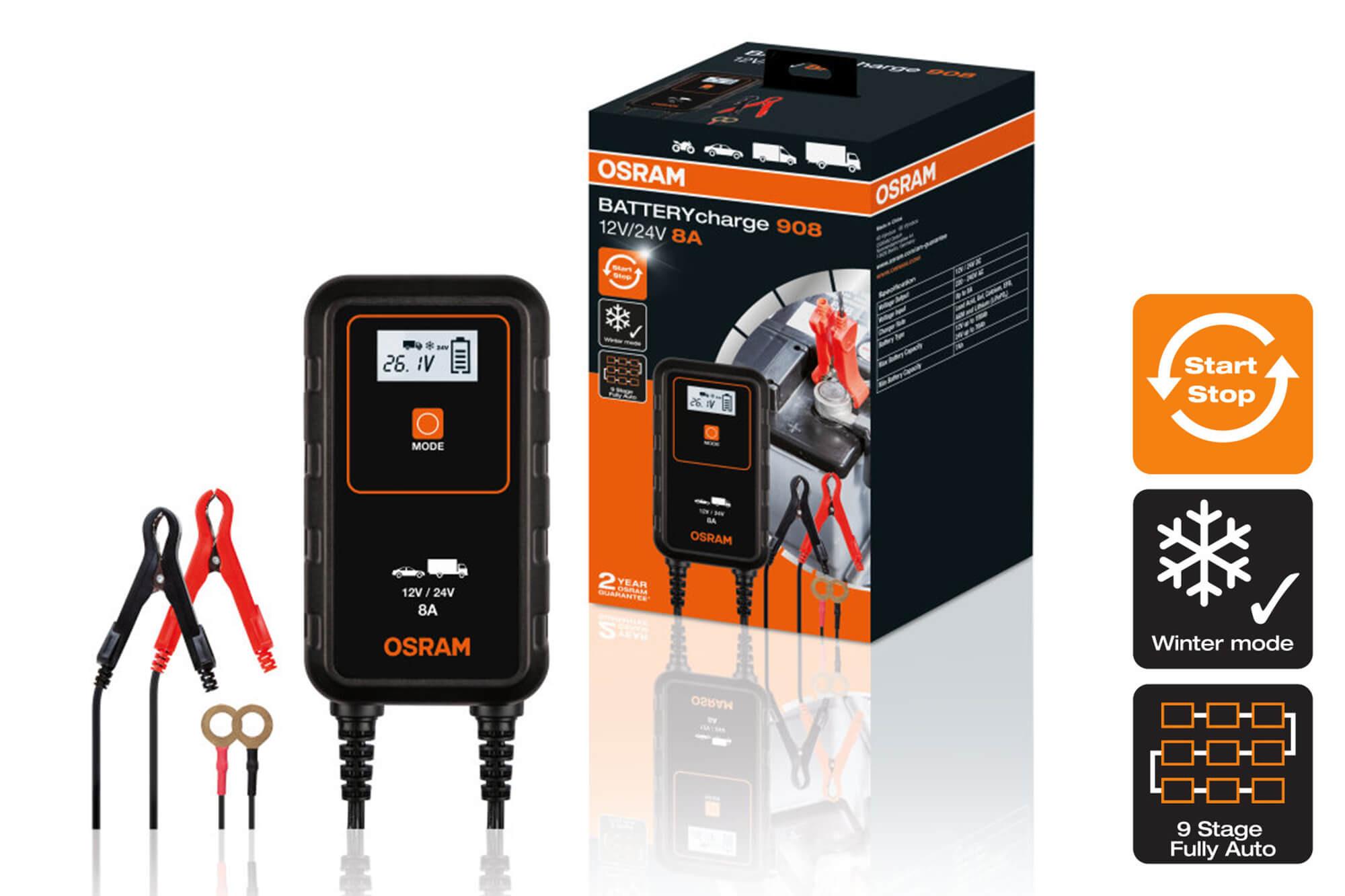 Osram - 9084 Smart зарядно за акумулатори до 150Ah