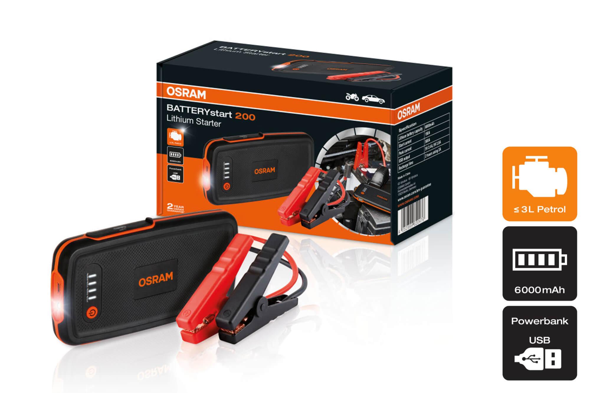 Osram - Batterystart 200 - Външна батерия 6000mAh